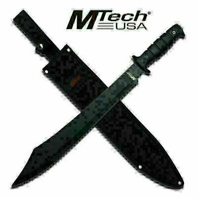 "20"" FULL TANG Tactical Survival Fixed Blade MACHETE w/sheath Sword Knife Mtech-T"