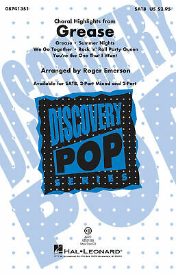 Grease (choral highlights)-SATB-Vocal Score