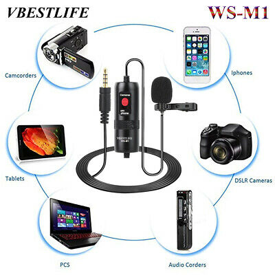 VBESTLIFE WS-M1 Lapel Lavalier Microphone Hands Free Wired Omni-directional Mic