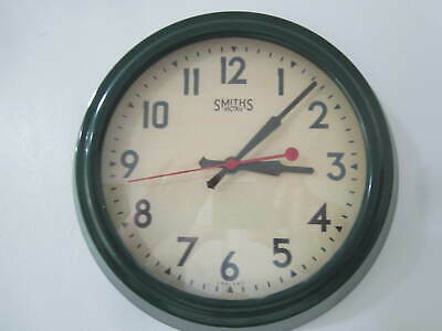 British Racing Green style Smiths Sectric perpetual Quartz 10 inch Wall Clock