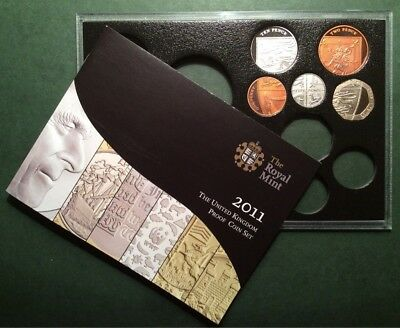 Proof, 2011 (part) Year Set - 5 Coins (20, 10, 5, 2 & 1p) In Crystal Case + COA.