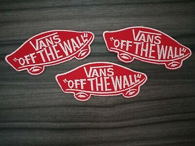 3 pcs VANS Of The Wall Patch Embroidered Iron or Sew on Jacket bag hat shirt