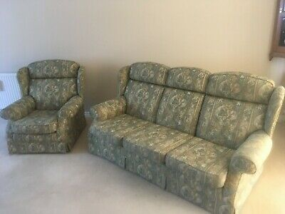 Classic Parker Knoll 3-Seater Sofa + Chairin Excellent Condition Model 2301