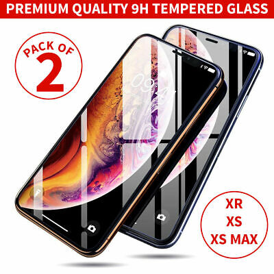 Premium Gorilla Glass Screen Protector Tempered Glass for New Apple iPhone XR XS