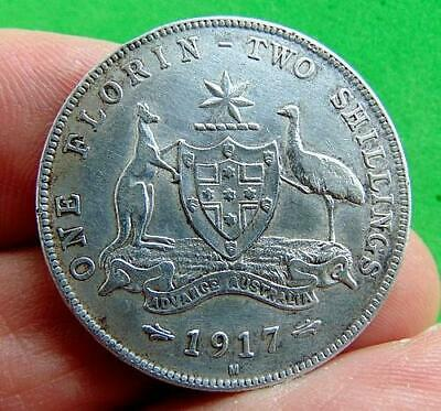 SUPER  GEORGE  V  SILVER  FLORIN  * 1917 *  From  AUSTRALIA ...LUCIDO_8  COINS