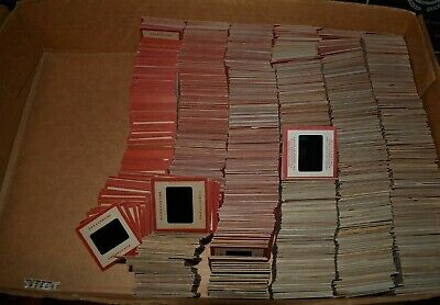 lot of 1200 vintage KODAK RED BORDER 35mm slides  travel family vacation  1950's