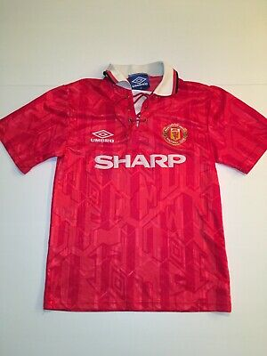 Genuine Original Manchester United Football shirt 1992 - 1994 Large boys Vintage