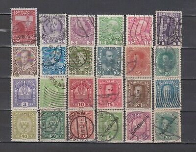 Austria / Osterreich - 1908-1919 - 24 Different Stamps