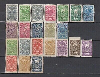 Austria / Osterreich - 1919-22 - 22 Different Stamps (Perforated/Imperforated)