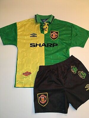 Original Geniune Manchester United Football Shirt Shorts 1992 - 1994 Vintage