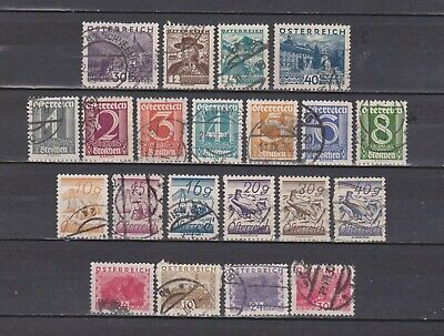 Austria / Osterreich - 1925-35 - 21 Dif. Stamps (See 2 Scans - Some With Paper)