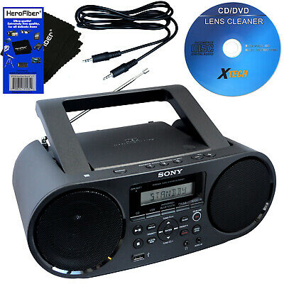 Sony Bluetooth & NFC Boombox w/CD Player, AM/FM Radio & USB + Cleaner +Aux Cable