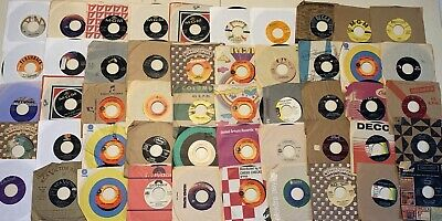 45 Rpm records Lot Of 50 Pop, Rock, Funk, Soul, Jazz See Pics For Titles Sleeved