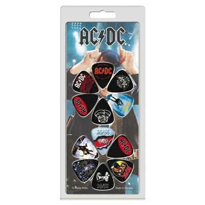 Guitar Picks Famous Album Covers Plectrums 12 Set AC//DC Status Quo Green Day
