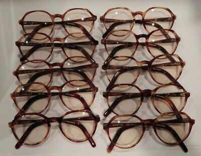 Vintage 10 Pc. Lot Elite Lynx Amber 51/20 Eyeglass Frame New Old Stock #S18