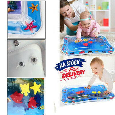 Inflatable Water Play Mat For Baby Infant Toddlers Mattress Best Fun Time RK