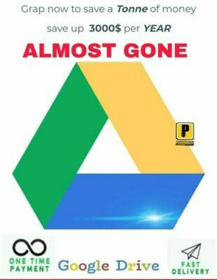 GOOGLE DRIVE UNLIMITED LIFETIME STORAGE NOT EDU - Buy 1 & Get 1 for FREE