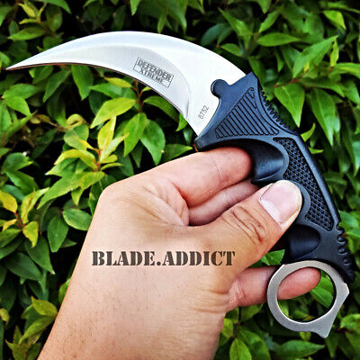 "7.5"" Military Tactical Karambit Hunting Skinner Hawkbill Neck Knife Dagger -H"