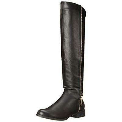 Style /& Co Womens Venesa Wide Calf Faux Leather Riding Boots Shoes BHFO 9769
