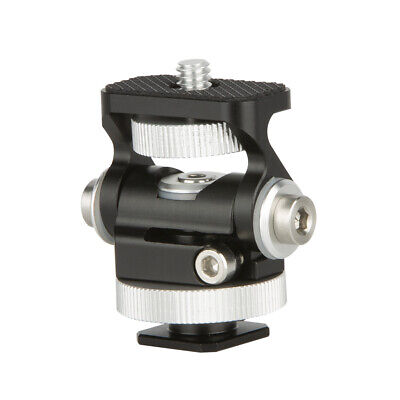 NICEYRIG Adjustable Mini Shoe Adapter with Monitor Holder Mount for Camera Video