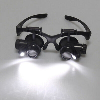 20x Magnifier Magnifying Eye Glass Loupe Jeweler Watch Repair with LED Light