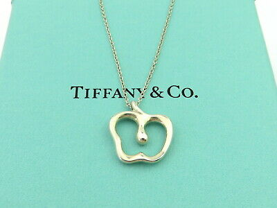 Authentic TIFFANY & CO Sterling Silver Apple Pendant Necklace