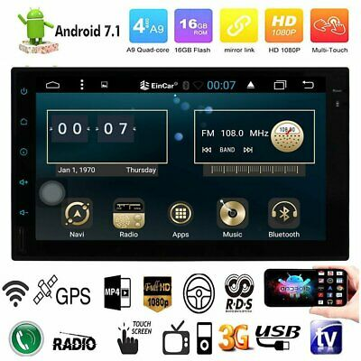 Android 7.1 AUTORADIO mit Navigation NAVI BLUETOOTH WIFI GPS 2 DOPPEL DIN MP3 7""