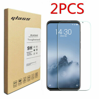2Pcs Clear Tempered Glass Cover Film Toughened Screen Protector For Meizu 16