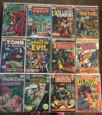 DC_ MARVEL Bronze Age HORROR COMIC LOT(12 issues) Nice Condition! MUST SEE!  NR
