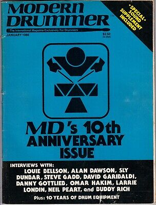 Modern Drummer Magazine January 1986 10th Anniversary Buddy Rich Neil Peart RARE