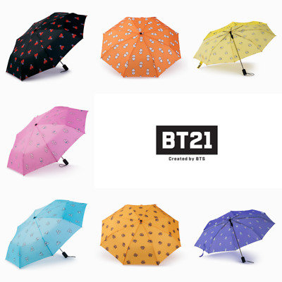 BTS BT21 OFFICIAL Merchandise Pattern Automatic Folding Umbrella + Tracking No.