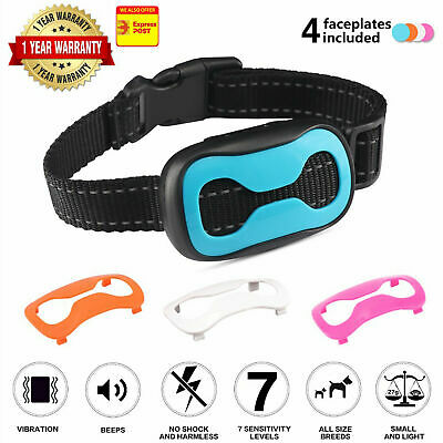 Auto Anti Bark Stop Barking Dog Training Collar Rechargeable Remote Non-Shock AU