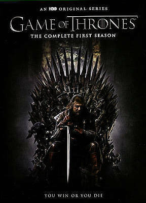 Game of Thrones Complete First Season NEW DVD 5-Disc set, (Case / Box Included)