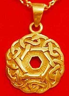 LOOK 24kt Gold Plated over real sterling silver 925 Celtic Infinity knot Weave C