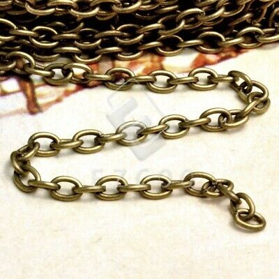 4M Iron Antique Brass Cable Chain Unfinished Chains DIY 0.9x3mm IF0113-4