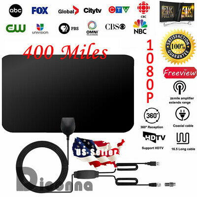 400 Mile Range Antenna TV Digital HD Skywire 4K Antena Digital Indoor HDTV 1080p
