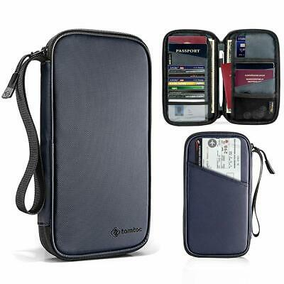 tomtoc Family Passport Holder RFID Blocking & Waterproof Travel Wallet Ticket Ho