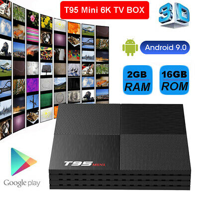 6K Smart TV Box T95 MINI 2G+16G Android 9.0 H6 WiFi Quad Core 3D Media Player