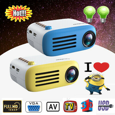 Portable YG200 MINI HD LED Projector Home Cinema Theater USB HDMI AV VGA 1080P