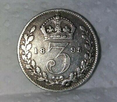 1895 silver Maundy Threepence Very nice collectable condition