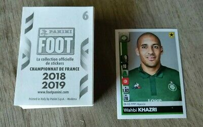 Lot 120 Vignettes Panini Foot 2018/2019