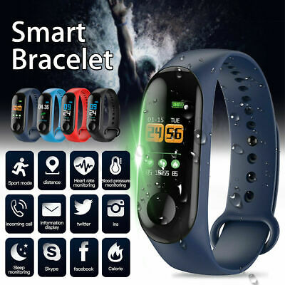 Smart Sport Watch Wristband Blood Pressure Heart Rate Monitor For iOS Android