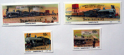 Trains, Bophuthatswana 1993 Issue, Railway Thematic Unmounted Mint Stamps.