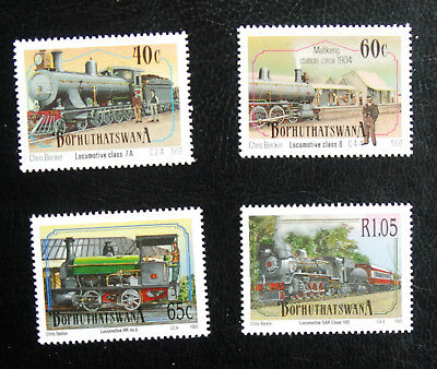 Trains, Bothuthatwana 1991 Issue, Railway Thematic Unmounted Mint Stamps.