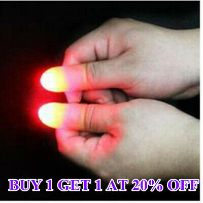 2Pcs party Magic Light Up Glow Thumbs Fingers Trick Appearing Light Close Up ACE