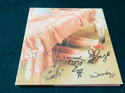 RED VELVET [RUSSIAN ROULETTE]  Album Autograph ALL MEMBER Signed PROMO