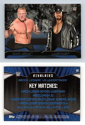 Brock Lesnar / Undertaker #10 WWE Then Now Forever 2016 Topps Rivalries Card