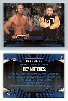 Cesaro / Kevin Owens #8 WWE Then Now Forever 2016 Topps Rivalries Card