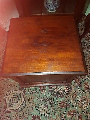 vintage Mahogany Music storage box or for magazines