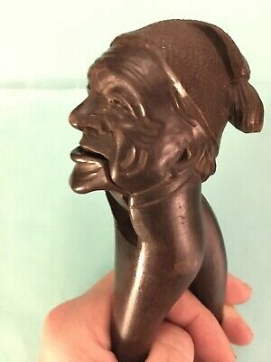 Antique Hand Carved Man with Sandman Hat Nutcracker Great Detail